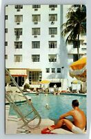 Miami Beach FL, The Rendale Hotel, Chrome Florida c1957 Postcard