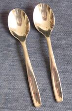Vintage Russel Wright Oneida Stainless Steel Flatware Pinch 2 Soup/ Place Spoons