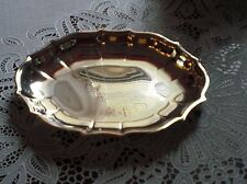 "Vintage ONEIDA Oval Candy Dish or Small Tray-Business Card holder 6""x7"""