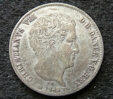 1842 DENMARK SILVER 16 RIGSBANKSKILL 5 SCHILLING IN AU CONDITION  (SEE PICTURES)