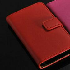 iPhone 5 Wallet Case Red Leather Flip Stand