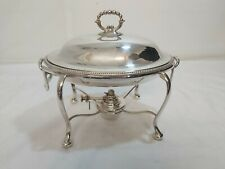A victorian Antique Silver Plated Complete Food Warmer by h,s.  lds.