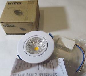 VITO 2021870 SNOW R MINI LED CEILING SPOT LIGHT 5W 400Lm 3000K  MR16 TYPE WHITE