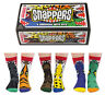 UNITED ODDSOCKS SNAPPERS SIX ODDSOCKS WITH A BITE ODD SOCKS BOYS UK SIZE 12 - 6
