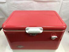 RETRO COLEMAN 54 QUART STEEL BELTED COOLER ROSE PINK SPECIAL EDITION-3650