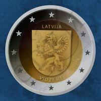 Lettland - Vidzeme Regionen Lettlands - 2 Euro 2016 BU in Coincard