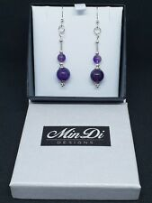 Handmade earrings made from Sterling Silver & Amethyst