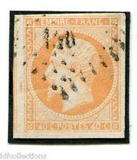 Classique de France Napoléon N°16j orange pâle oblitéré cachet petits chiffres