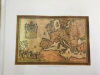 Chart of Europe, And French Empire, by Cartographer Ogerveaux, XIX Century Print