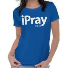 I Pray Religious Philippians Christian Strong God Gift Ladies T Shirt For Women
