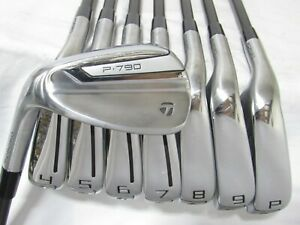 Used LH TaylorMade P-790 Forged Iron Set 4-P,A Regular Flex Graphite Shafts