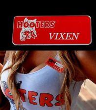Hooters Girl Uniform Vixen Name Tag Pin Celebrity Sexy Halloween Costume Extra
