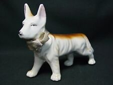 Vtg German Shepherd Dog Japan Old Porcelain Figurine Japanese Puppy Terrier