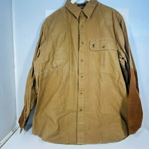 Beretta Mens Long Sleeve Light Brown Shooting Shirt XL