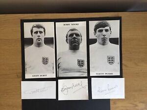 Bobby Moore England Signed