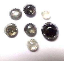 5+ Carat lots of 4-6mm Black White ROUND ROSE CUT POLISHED DIAMONDS Salt Pepper
