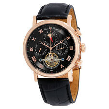 Lucien Piccard Ottoman Automatic Black Dial Mens Watch 40012A-RG-01-W