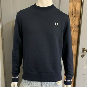 FRED PERRY Crew Neck Sweatshirt Sweater Pulli navy M7535-608