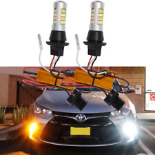 Plug&Play Switchback Front DRL Parking Signal LED & Resistor for Toyota Camry