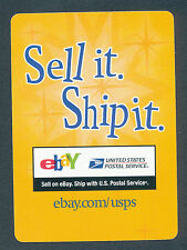 eBay Sell it Ship it promo playing card single swap ace of clubs - 1 card