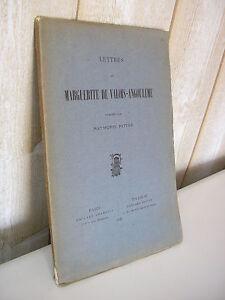 Lettres de Marguerite de Valois-Angoulème 1927
