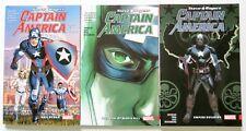 Captain America Steve Rogers Vol. 1 2 & 3 Marvel Graphic Novel Comic Book