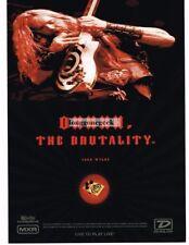 2004 DUNLOP Wylde Overdrive Guitar Pedal ZAKK WYLDE Vtg Print Ad