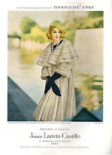 ▬► PUBLICITE ADVERTISING AD Fourrure Jeanne LANVIN Castillo vison