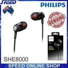 PHILIPS SHE8000 In-Ear Headset - Headphones - Earphones - Deep Bass - BLACK