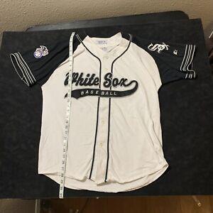Vintage Chicago White Sox Starter Pinstripe Jersey Size Medium 90s MLB Stitched