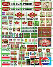 7033 DAVE'S DECALS HO SCALE PIZZA PANTRY WINDOW BUILDING SIGNAGE ITALIAN FOOD