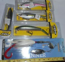 MUSKIE PIKE GIANT TACKLE LOT --STORM-BLUE FOX -MIXED LOT OF 5