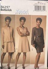 Butterick Lifestyle pattern B6257 Misses/Petite Jacket Dress Skirt sz 14-22uncut