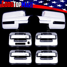 For Ford F150 2009-2013 2014 Chrome Covers Combo Mirrors SIGNAL+4 Doors KEYPAD