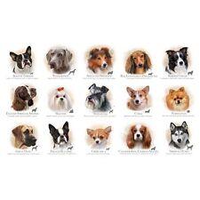 "24"" Fabric Panel - Elizabeth's Studio Dog Breeds Portrait Blocks Cream"