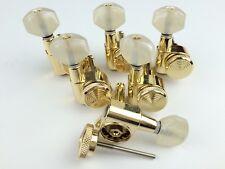 Lock Wilkinson 6R Gold Guitar Locking Tuners JN-07 SP Fits Fende Strat Tele