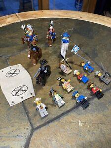 19 LEGO Cowboys & Indians Minifigures Lot. Western Indians Horses Cowboys Lot#27