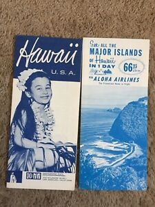 TWO VINTAGE TRAVEL BROCHURES - HAWAII AND ALOHA AIRLINES