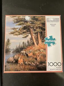 """Buffalo Games HAUTMAN BROTHERS COLLECTION """" DEER & PINES"""" 1000pc Puzzle- New"""