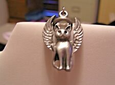 *ON SALE NOW* HANDCRAFTED PEWTER GUARDIAN ANGEL CHARM/TAG FOR CAT