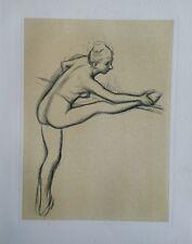 Edgar DEGAS (1834-1917) (d'après) - Lithographie - Danseuse et souplesse  #1950