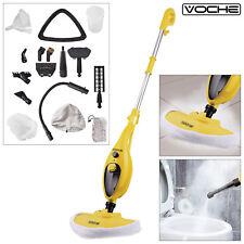VOCHE 16-in-1 1300W HOT STEAM CLEANER HANDHELD STEAMER FLOOR MOP & CARPET WASHER