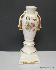 Antique Ceramic Electric Lamp Bases 24k Gold Accents Hand Painted Floral