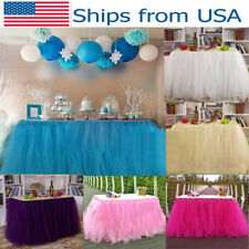 tutu table skirt birthday baby shower tableware decor tulle wedding fashion hot