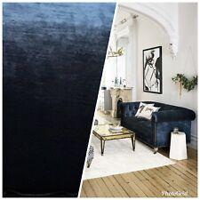 Designer Antique Inspired Velvet Fabric - Deep Sea Blue - Upholstery