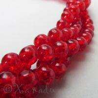 150 Or 300PCs Pink Fuchsia 6mm Wholesale Round Frosted Glass Beads G4578-75