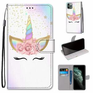 Garland Unicorn Hot Fashion Flip Wallet Women Girl Case Cover For Various Phone