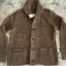 RRL Linen Cotten Shawl Cardigan Brown Sz. M Medium Knit