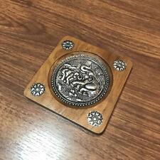 Handmade Thai Traditional Vintage Lanna Style Elephant Wood Coaster