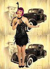 533✪ Roaring 20's Charleston Kostüm Coco Gatsby Kleid Swinging Twenties Flapper